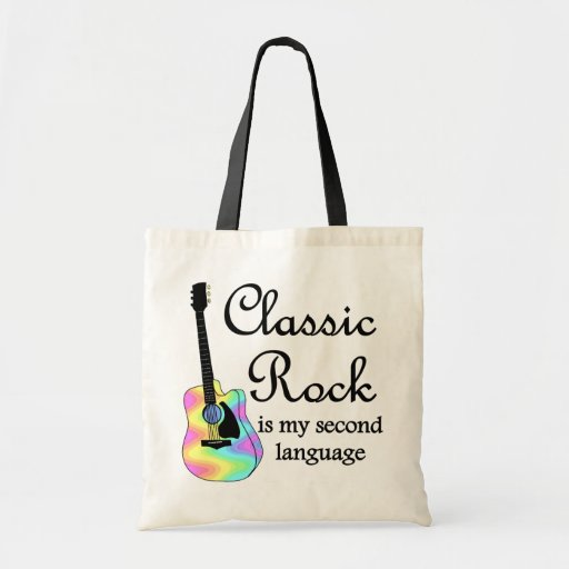 Classic Rock is my second language Canvas Bag
