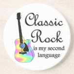 Classic Rock is my second language Drink Coasters