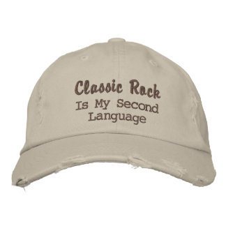 Classic Rock is my second language Embroidered Baseball Hat
