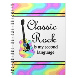 Classic Rock Is My Second Language notebook