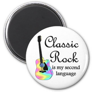 Classic Rock is my second language Round 2 Inch Round Magnet