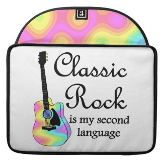 Classic Rock Is My Second Language Sleeve For MacBook Pro