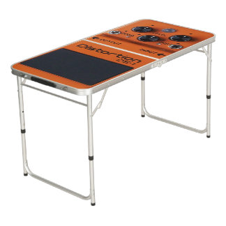 Classic Rock Orange Distortion Pedal Pong Table! Pong Table