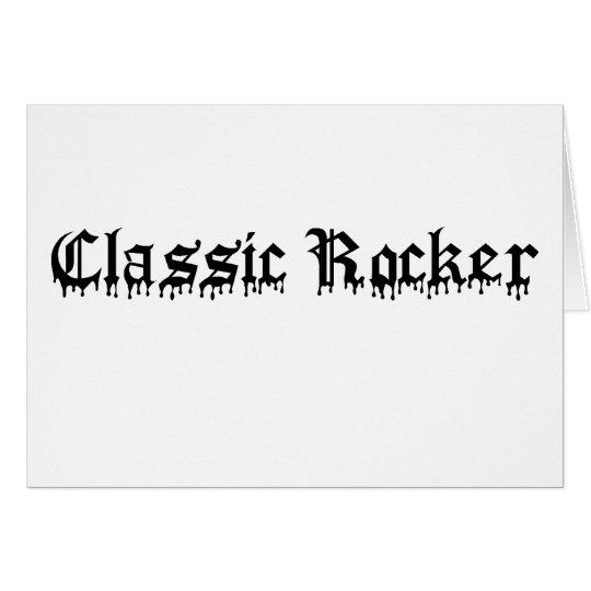 Classic Rocker black text Card