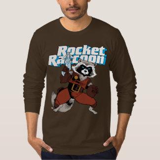 Classic Rocket Raccoon Character Art T-Shirt