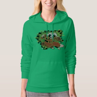 Classic Rocket Raccoon Running Graphic Hoodie