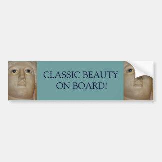 Classic Roman Beauty on Board Bumper Sticker