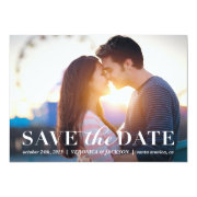 Classic Romance photo save the date card