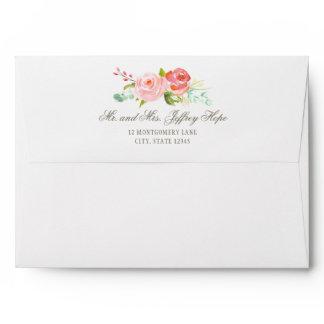 Classic Rose Garden Elegant Envelope