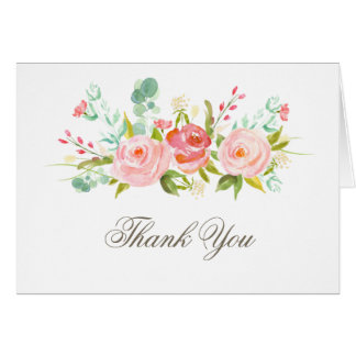 Classic Rose Garden Elegant Thank You Card