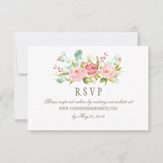 Classic Rose Garden Wedding RSVP Online Website
