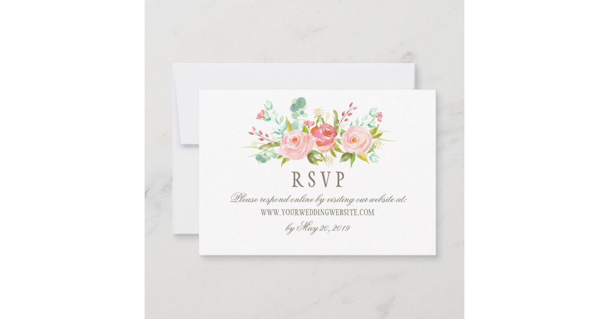 Online Wedding Invitations And Rsvp: Classic Rose Garden Wedding RSVP Online Website