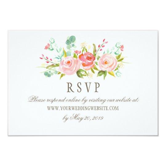 Classic Rose Garden Wedding RSVP Online Website Card | Zazzle.com