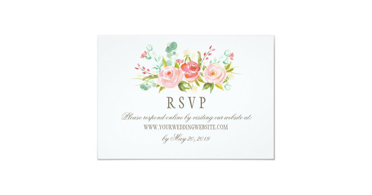 classic rose garden wedding rsvp online website card zazzle