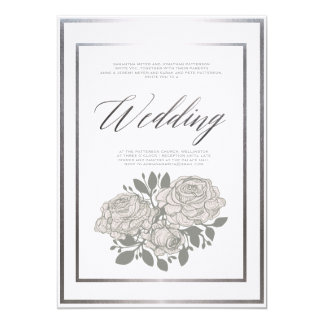 Classic Rose Wedding Invitation