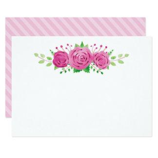 Classic Rosiness Blank Wedding Note Card