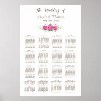 Classic Rosiness Wedding Seating Chart