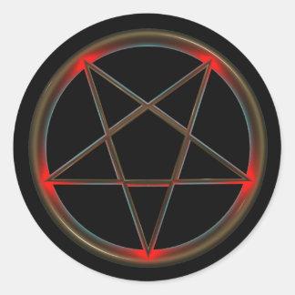 Classic Round Pentagram Sticker, Glossy Classic Round Sticker