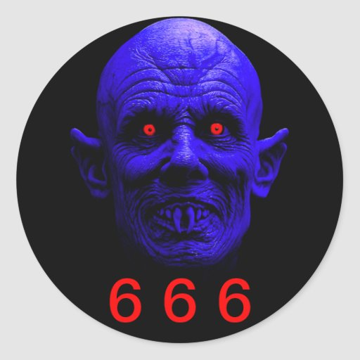 Classic Round Sticker, 6 6 6 Classic Round Sticker