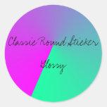 Classic Round Sticker, Glossy Classic Round Sticker