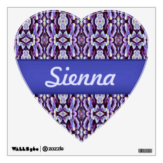 classic royal blue lace heart decal