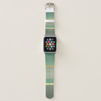 CLASSIC ROYAL GOLD AQUA ANTIQUE VINTAGE STRIPS APPLE WATCH BAND