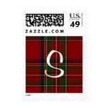 Classic Royal Stewart Plaid Custom Monogram Stamp