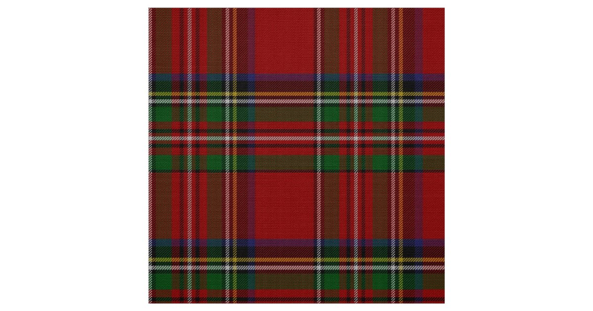 Classic Royal Stewart Tartan Plaid Fabric Zazzle