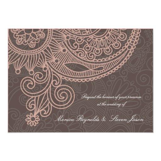 Classic RSVP wedding invitation card