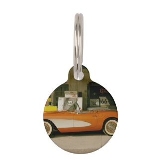 Classic RT 66 Gas Station Pet ID Tags
