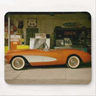 Classic RT 66 Gas Station Mouse Pad