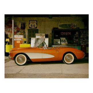 Classic RT 66 Gas Station Postcard