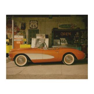 Classic RT 66 Gas Station Wood Print