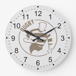 Classic Rugby Large Clock