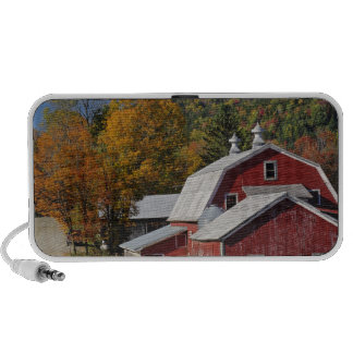 Classic rural barn and road, White Mountain iPhone Speakers