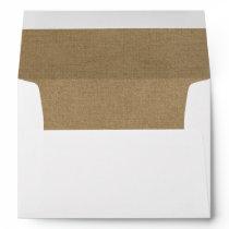 Classic Rustic Kraft Lined Wedding Envelopes