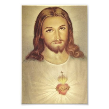 Valentines Themed Classic Sacred Heart of Jesus Photo Print