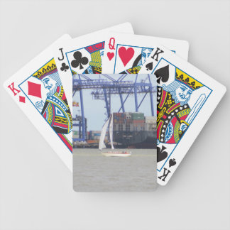 Classic Sailboat In Felixstowe Bicycle Playing Cards