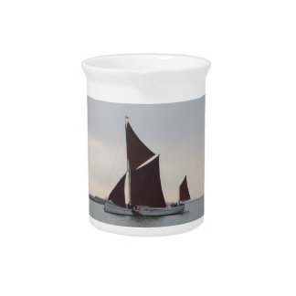 Classic Sailing Barge Beverage Pitcher