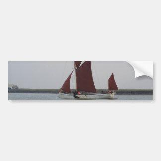 Classic Sailing Barge Car Bumper Sticker