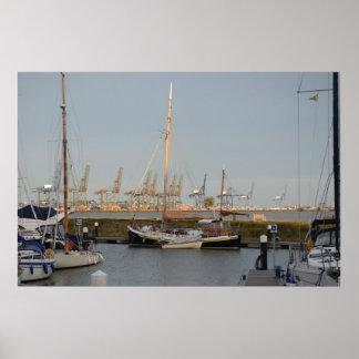 Classic Sailing Barge Stenoa Poster