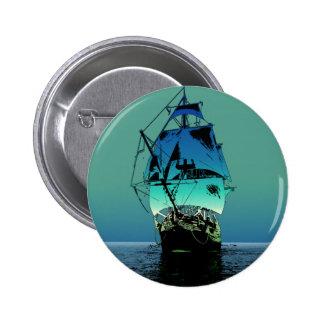 Classic Sailing Ship Button