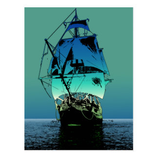 Classic Sailing Ship Postcard