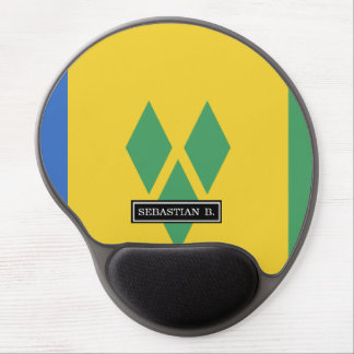 Classic Saint Vincent Flag Gel Mouse Pad