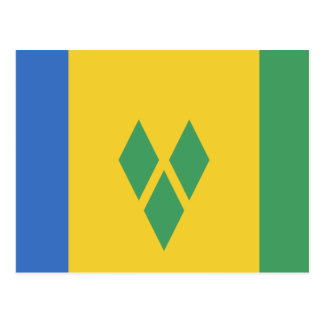 Classic Saint Vincent Flag Postcard