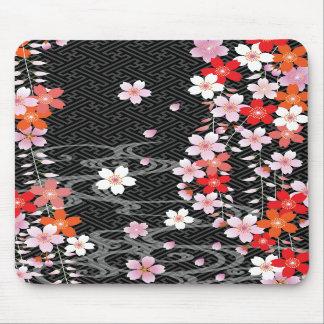 Classic Sakura Kimono Pattern Mousepad