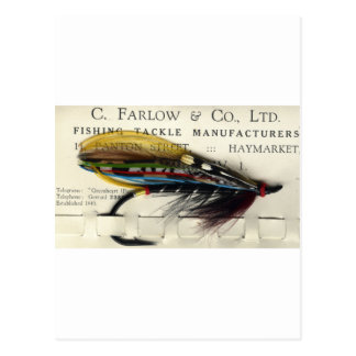 Classic Salmon Fly on card