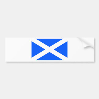 Classic saltire flag image bumper sticker