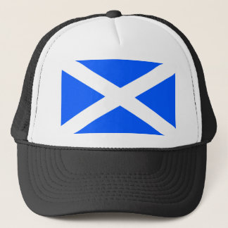 Classic saltire flag image trucker hat
