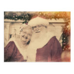 Classic Santa Claus and Ms. Claus Post Card